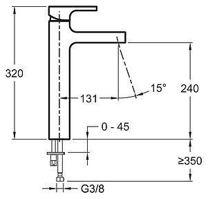 Смеситель Jacob Delafon Strayt E98340-CP для раковины купить смеситель в ванную в киеве недорого